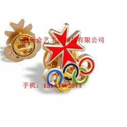 五环徽章、奥运会徽章、镂空徽章、纪念章定做