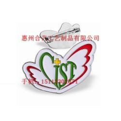 高档金属纪念徽章、异形烤漆胸章、蝴蝶徽章定制