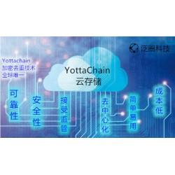 Yottachain企业云盘专注于数据存储安全泛圈科技