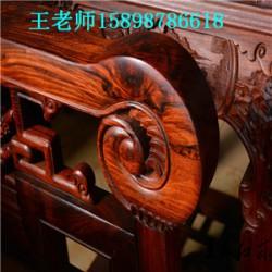 济南卖大红酸枝餐桌厂家王义红木餐桌七件套家具