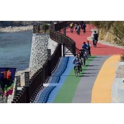 江苏南通彩色路面改色剂推动城市美化新做法