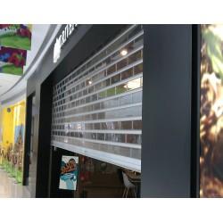 pv水晶卷帘门电动卷帘门橱窗展示电动门