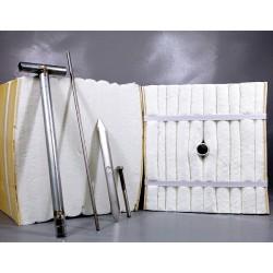 高温实验炉高温炉用轻质耐火衬里硅酸铝纤维毯模块