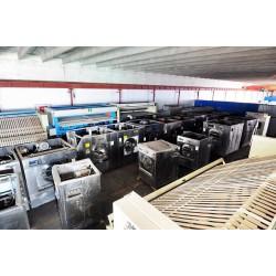 陕西榆林二手100公斤海狮鸿尔水洗机二手百强折叠机送布机