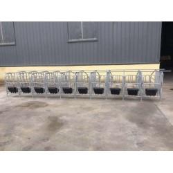 畜牧养殖设备  猪用定位栏  猪位加宽限位栏