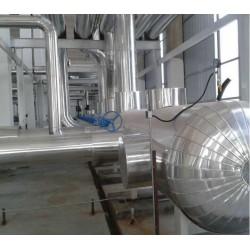 换热站铝皮保温设备岩棉玻璃棉管道保温工程公司