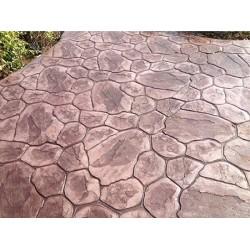 龙岩高强度、耐冲击彩色艺术压模地坪